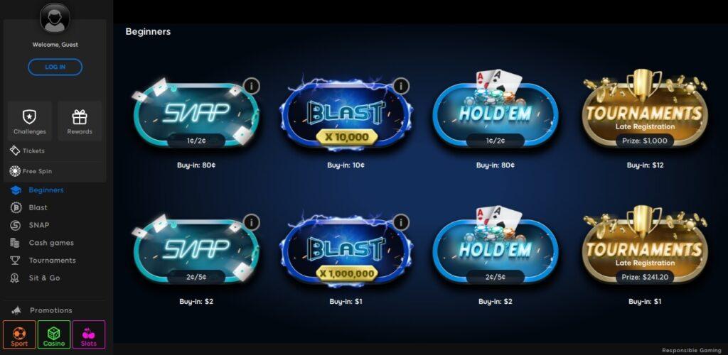 888 poker lobby beg